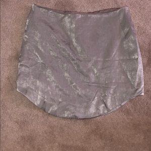 Silk Mini Skirt
